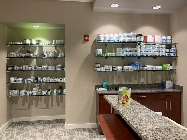 Supplements are available for purchase at Carolina Total Wellness.